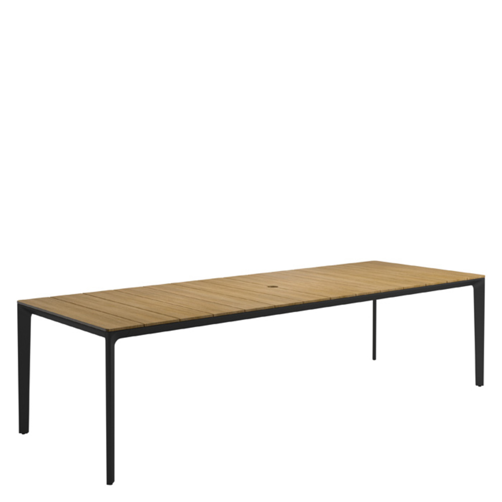 Gloster - Rectangular Table w/ Teak Top