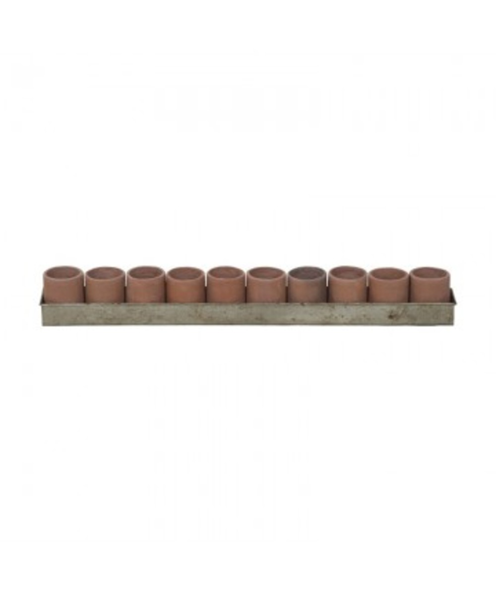 Elk Group International/Combined - Terra Cotta Tea Lights In Tin