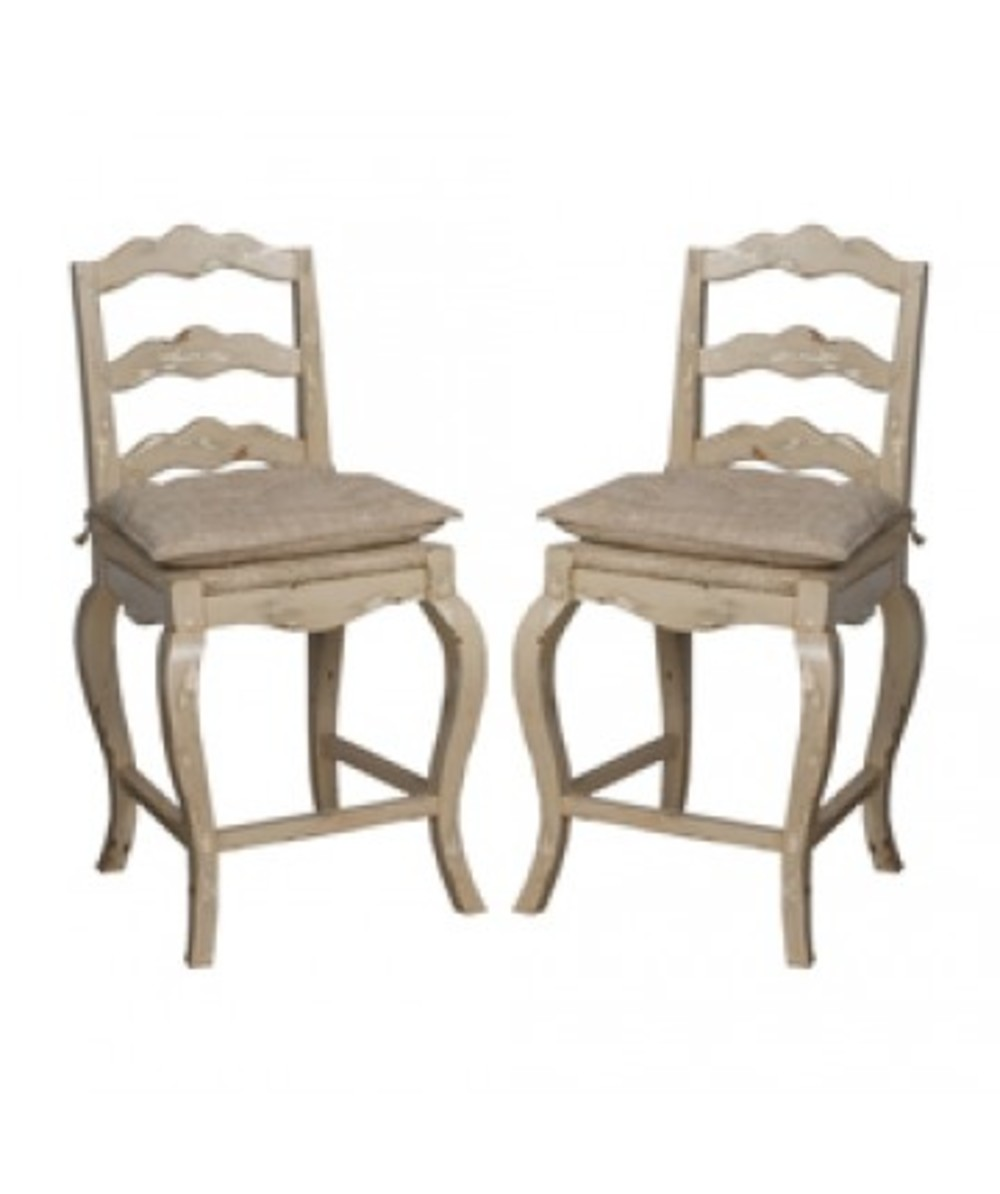 Elk Group International/Combined - Pair of French Provencal Counter Stool