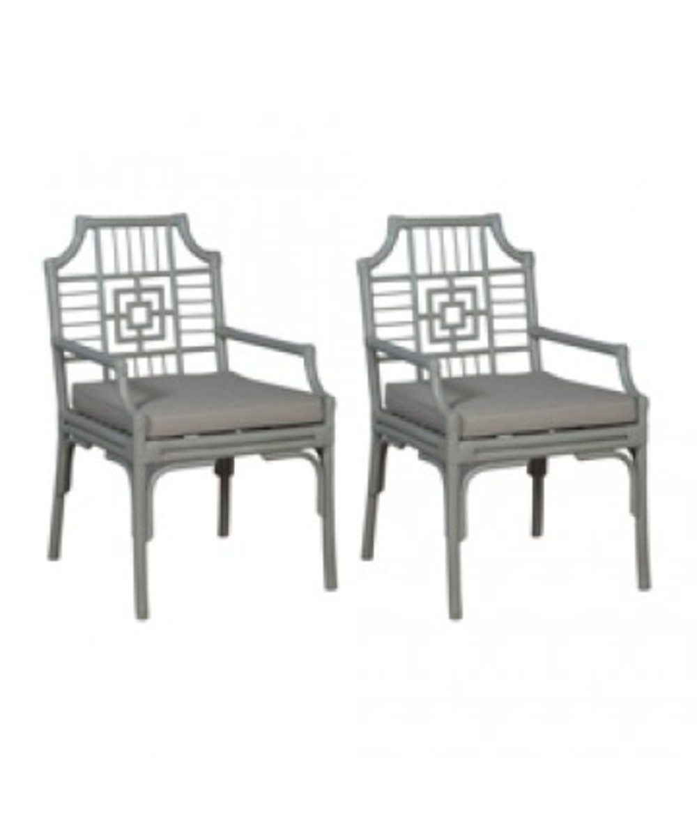 Elk Group International/Combined - Pair of Manor Rattan Arm Chair