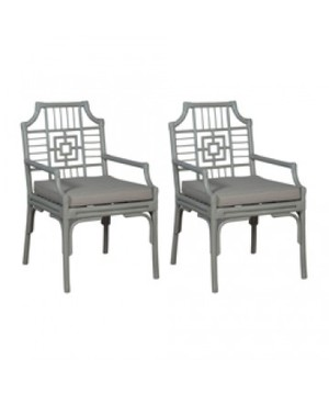 Thumbnail of Elk Group International/Combined - Pair of Manor Rattan Arm Chair