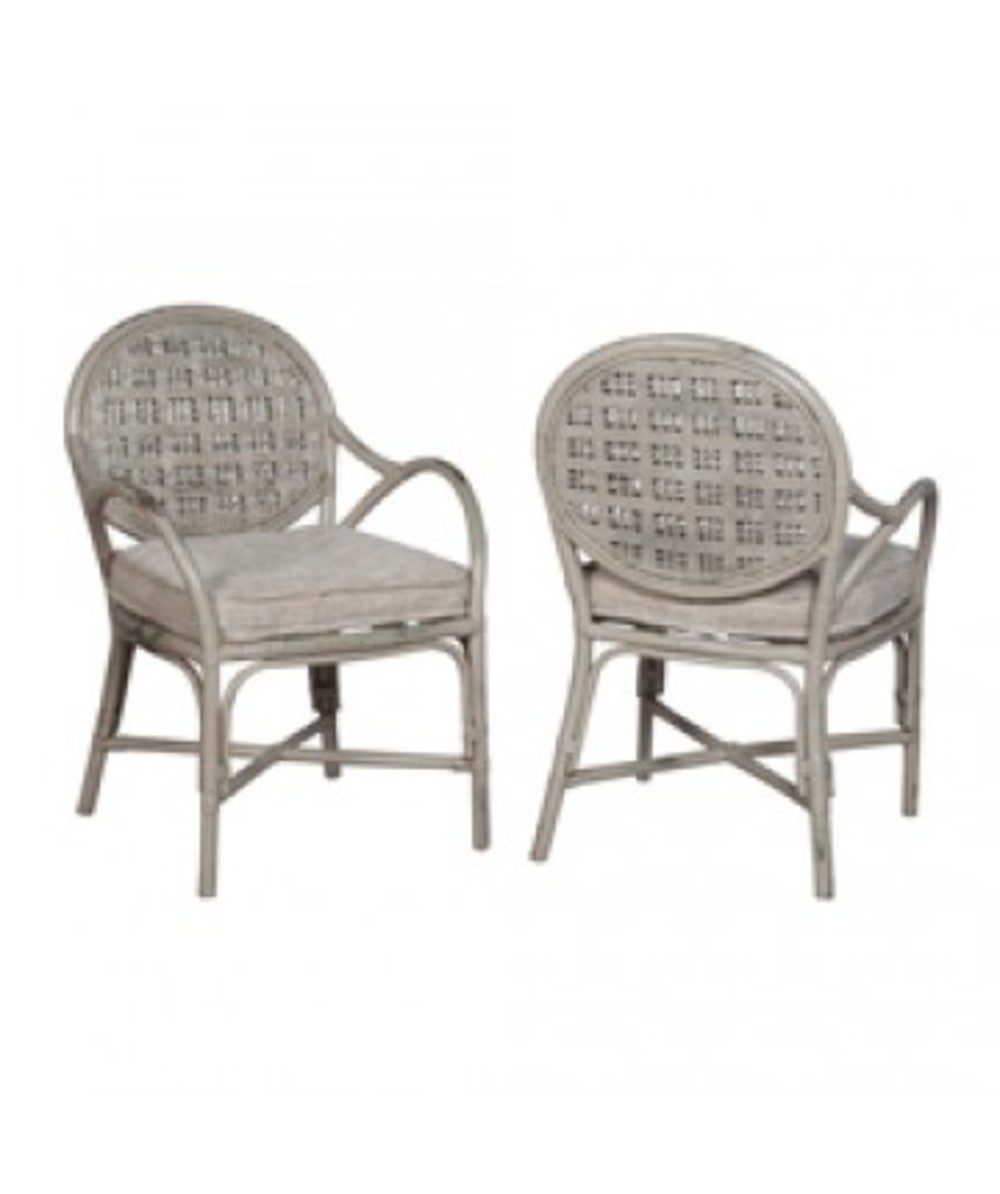 Elk Group International/Combined - Pair of Farmhouse Rattan Arm Chair