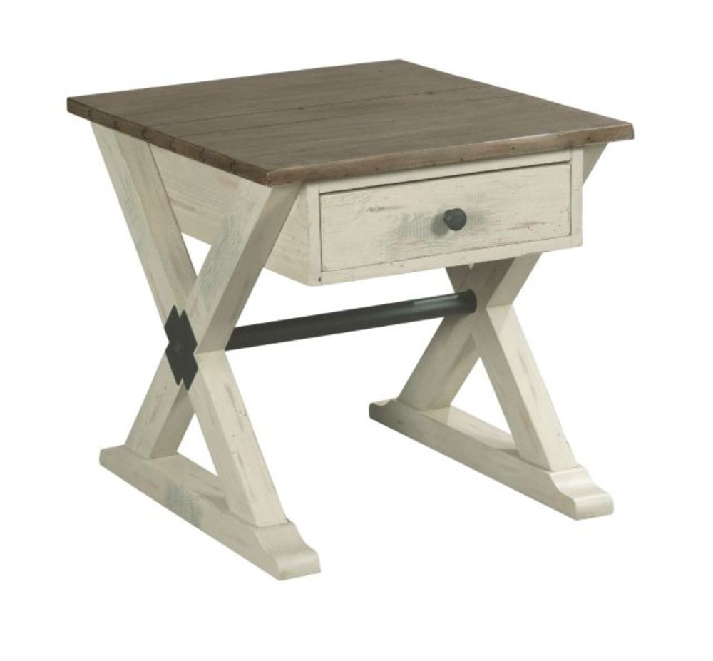 Hammary Furniture - Trestle Drawer End Table