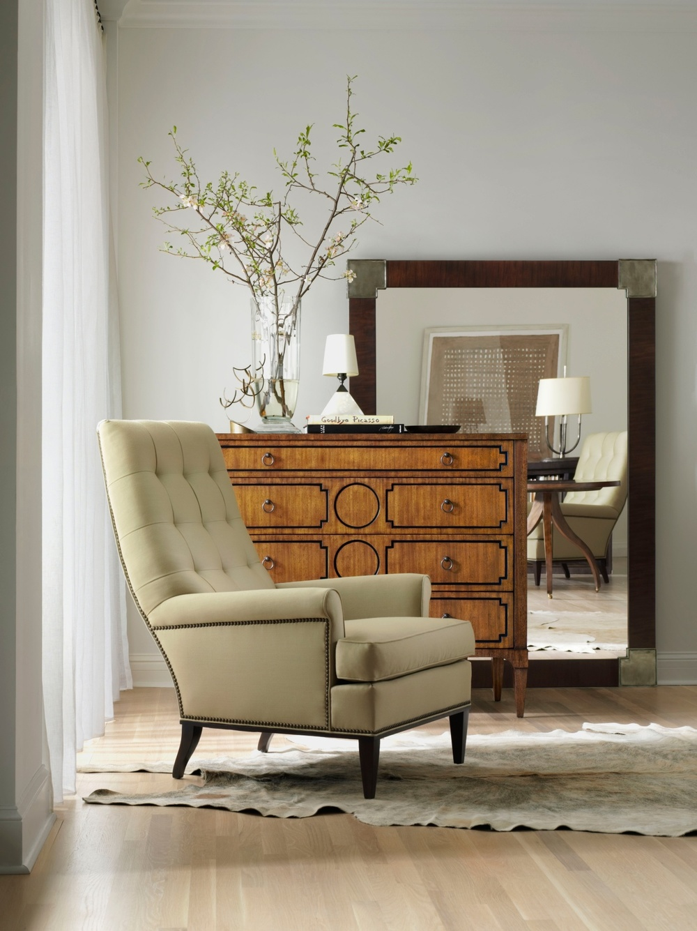 Hickory Chair - Cline Biscuit Stitched Chair