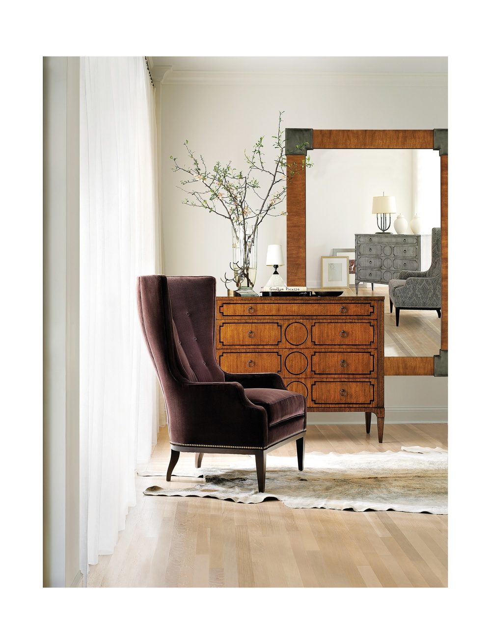 Hickory Chair - Elliott Wing Chair