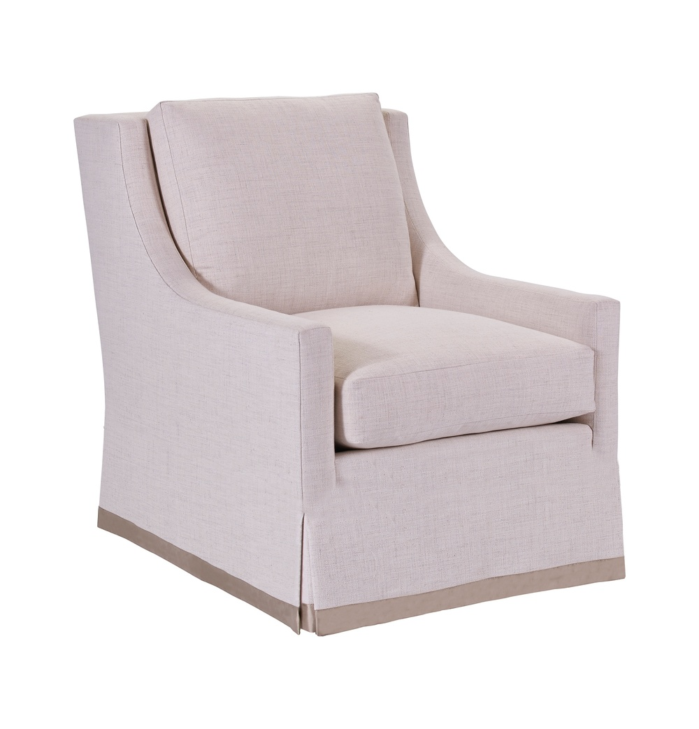 Hickory Chair - Chatham Lounge Chair with Skirt