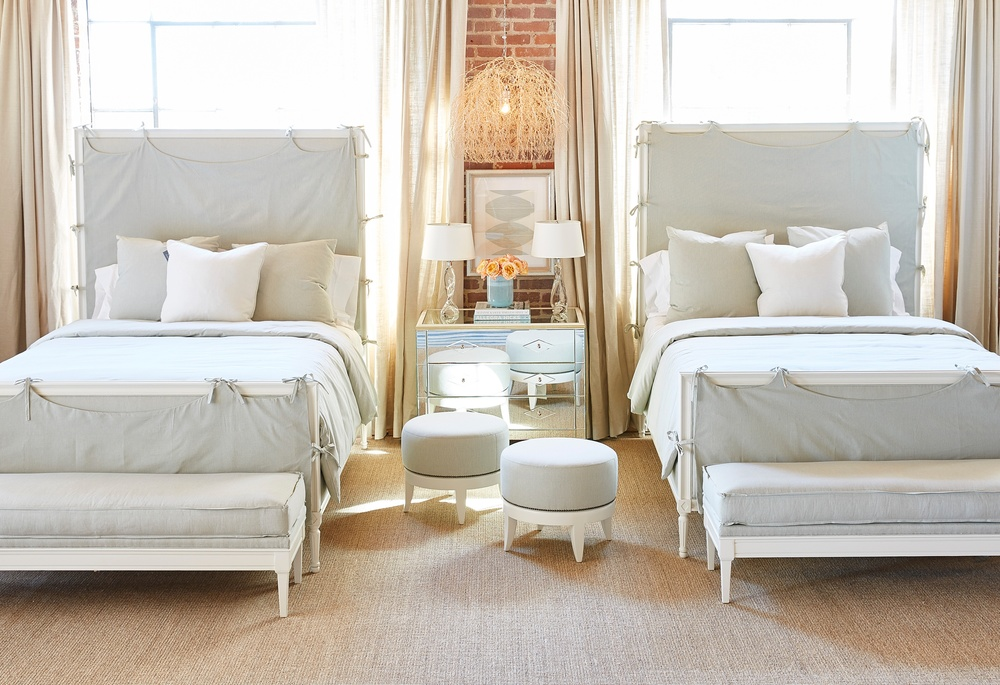 Hickory Chair - Candler Queen Bed with Slipcover