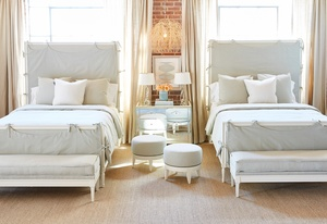 Thumbnail of Hickory Chair - Candler Queen Bed with Slipcover