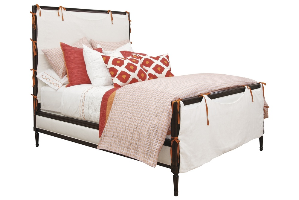 Hickory Chair - Candler California King Bed with Slipcover