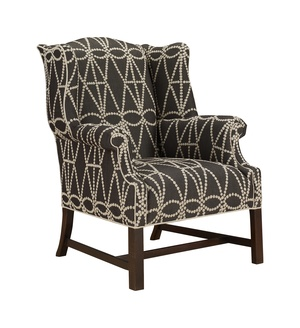 Thumbnail of Hickory Chair - Chippendale Wing Chair
