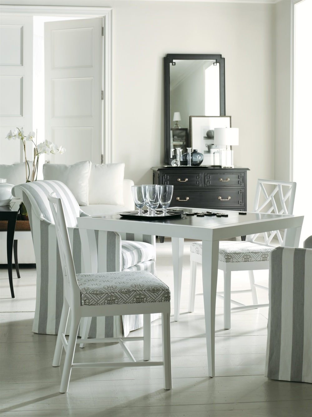 Hickory Chair - Lindsay Chair with Casters
