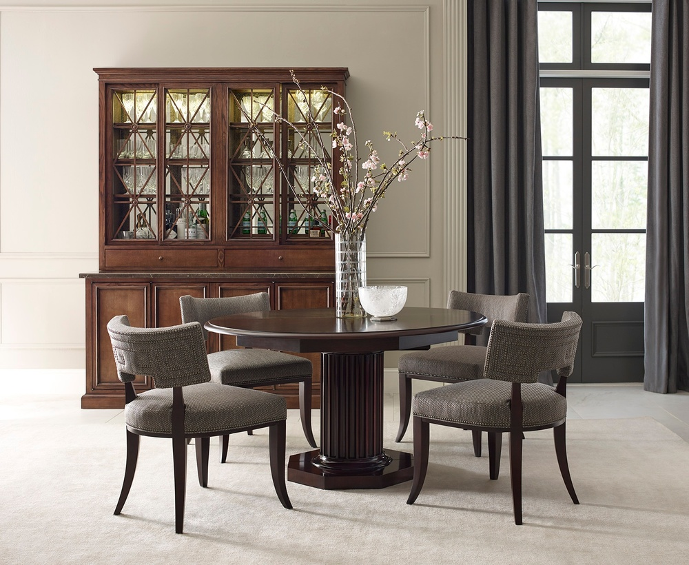 Hickory Chair - Meurice Base and Buffet with Stone Top