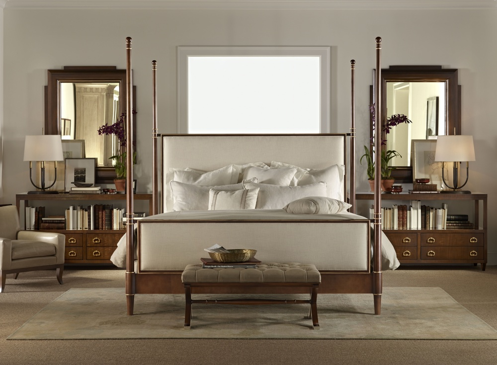 Hickory Chair - Tompkins Queen Bed with Upholstered Headboard/Footboard