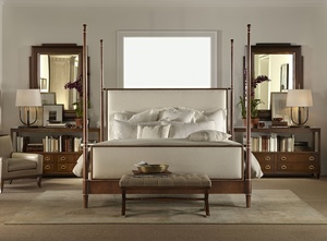 Thumbnail of Hickory Chair - Tompkins Queen Bed with Upholstered Headboard/Footboard