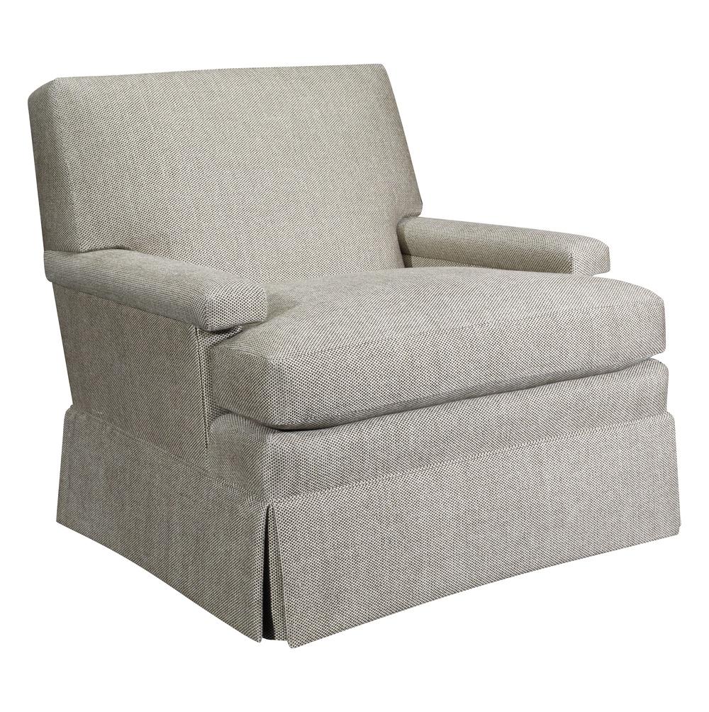 Hickory Chair - MacDonald Swivel Chair with Skirt