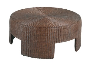 Thumbnail of Hickory Chair - Wicker Round Cocktail Table