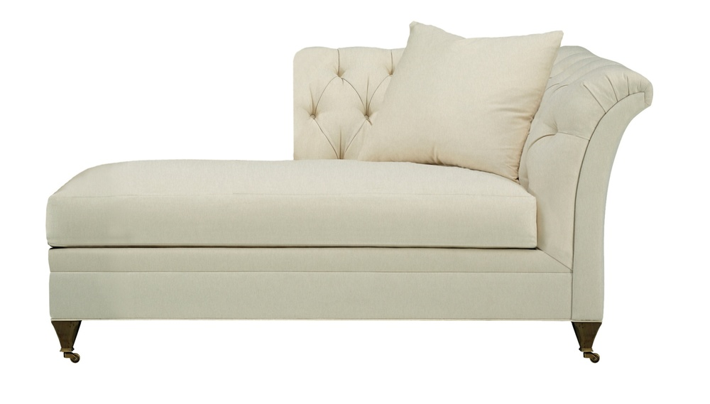 Hickory Chair - Marquette Tufted Left Arm Facing Chaise