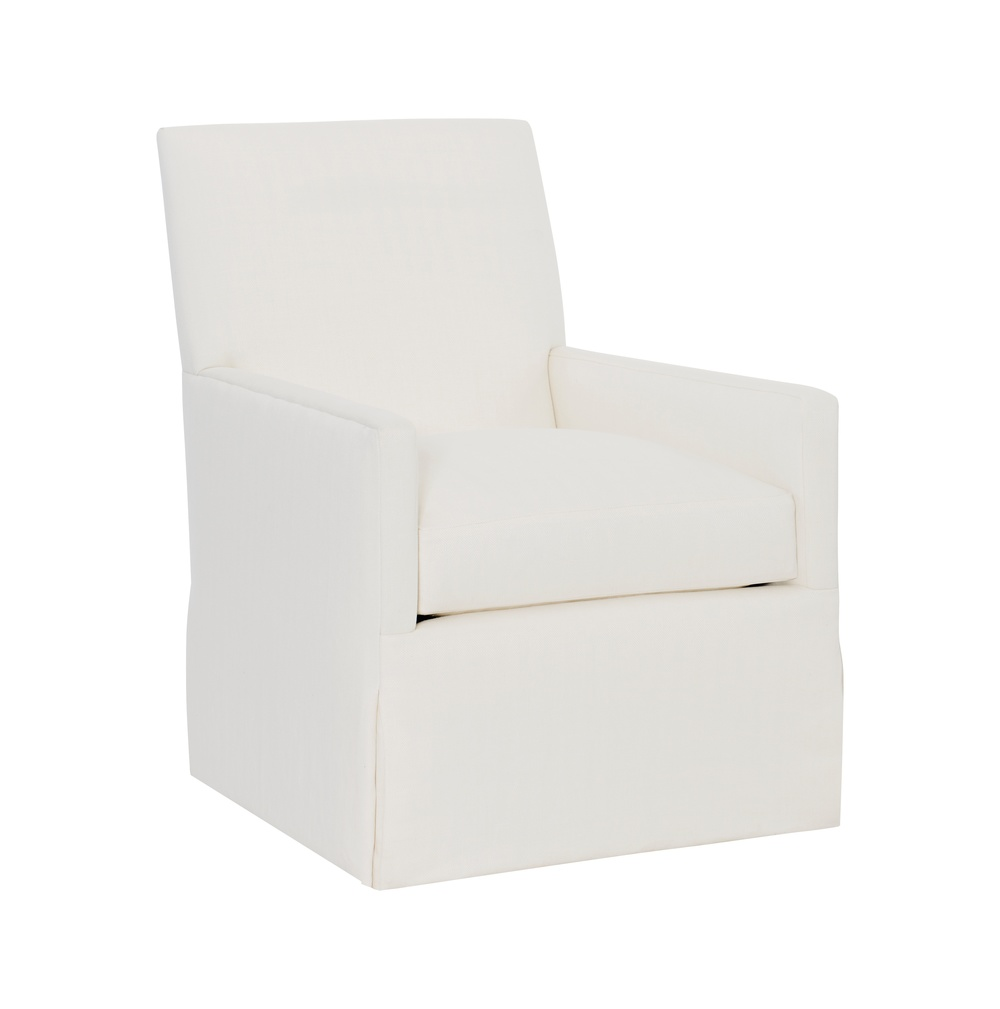 Hickory Chair - Box Back Bergere Skirted Chair