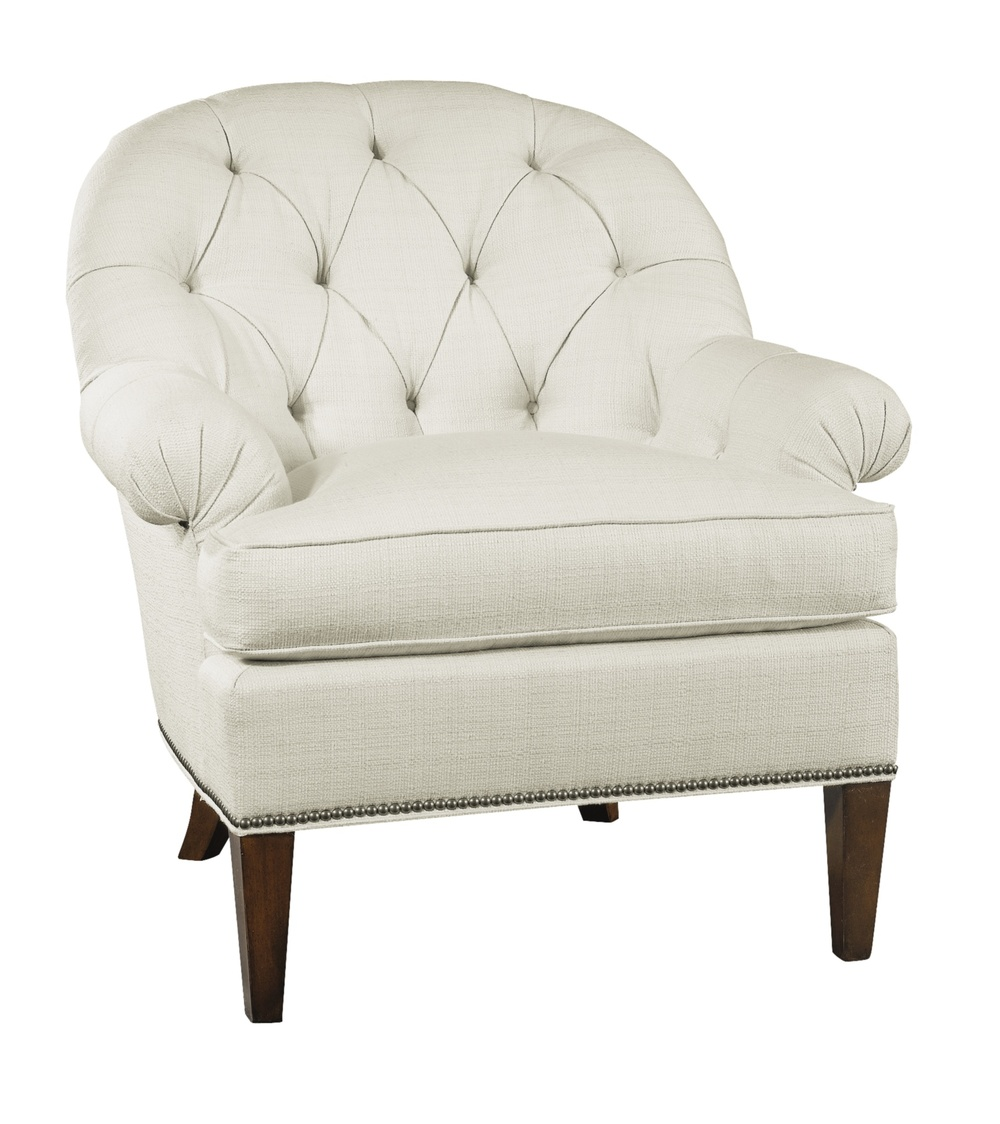 Hickory Chair - Holly Tufted Exposed Leg Chair
