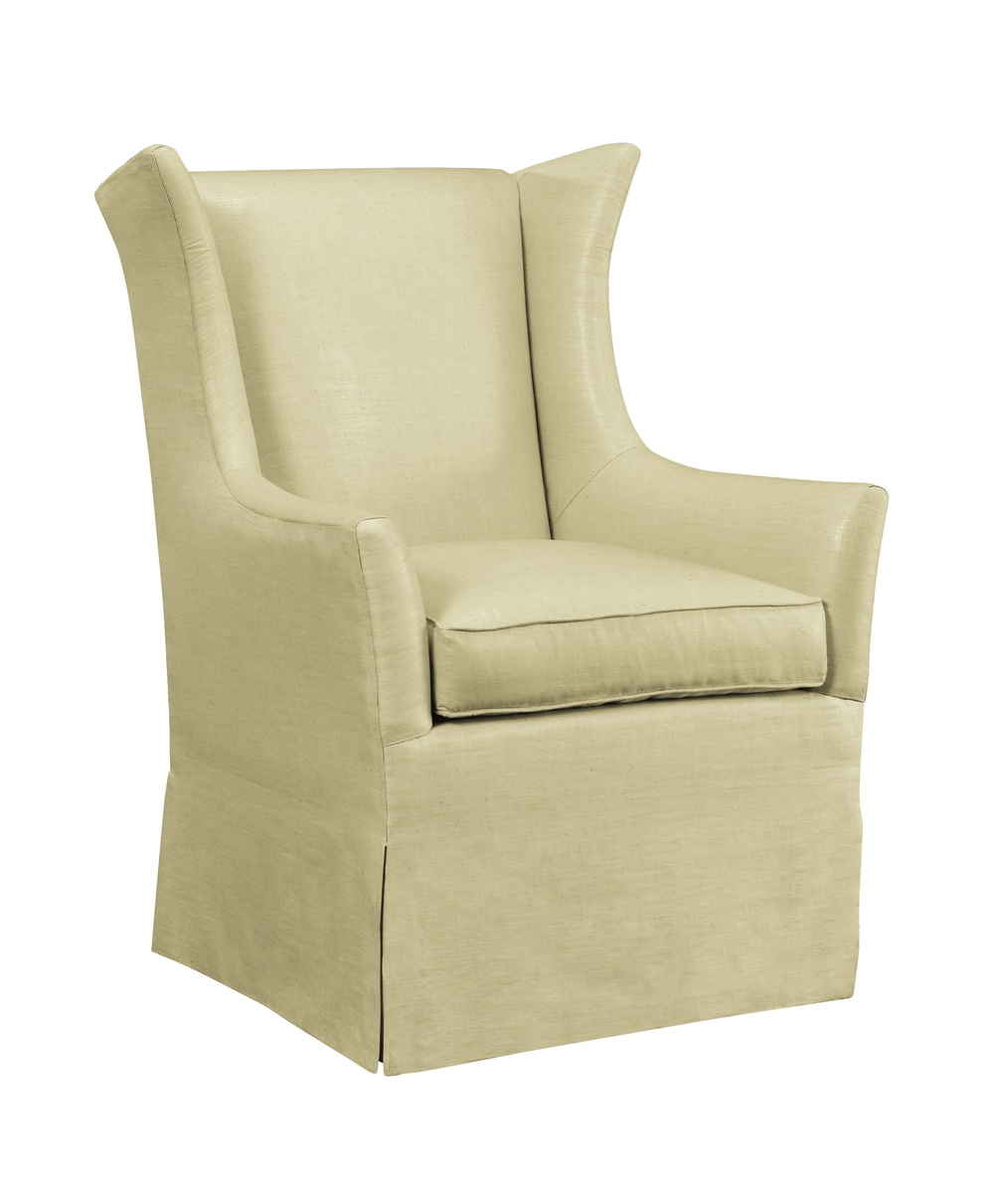 Hickory Chair - Jackson Skirted Wing Chair