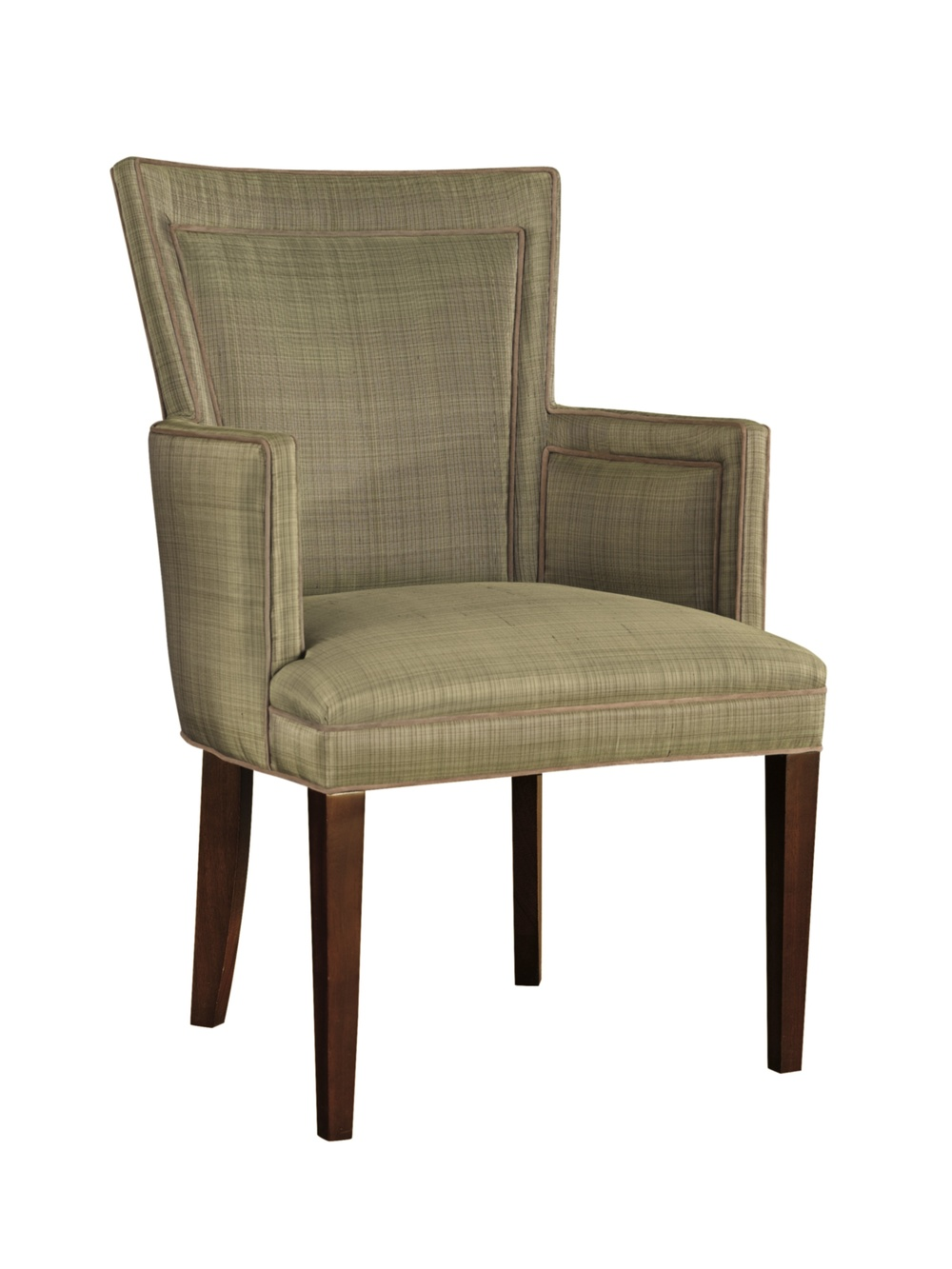 Hickory Chair - Flared Back Dining Arm Chair