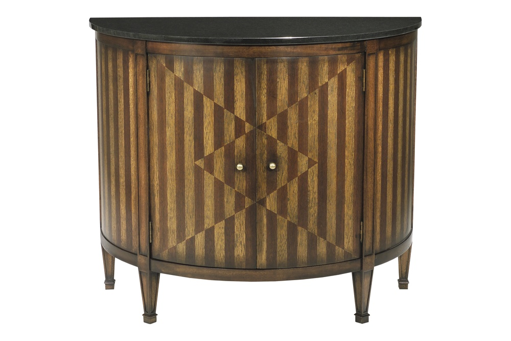 Hickory Chair - Continental Demi Lune Cabinet