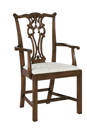 Thumbnail of Hickory Chair - Rhode Island Chippendale Arm Chair