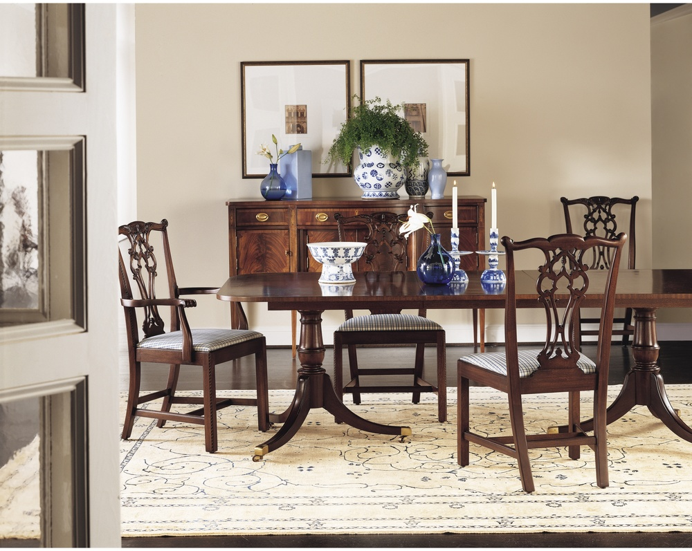 Hickory Chair - Rhode Island Chippendale Arm Chair