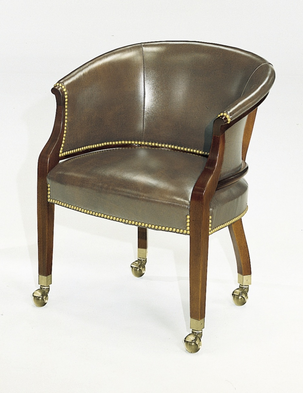 Hickory Chair - Tub Chair with Casters