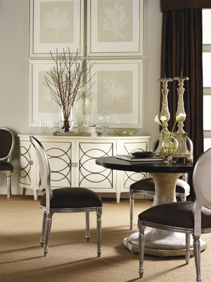 Thumbnail of Hickory Chair - Duchamp Demi Lune Sideboard with Wood Top