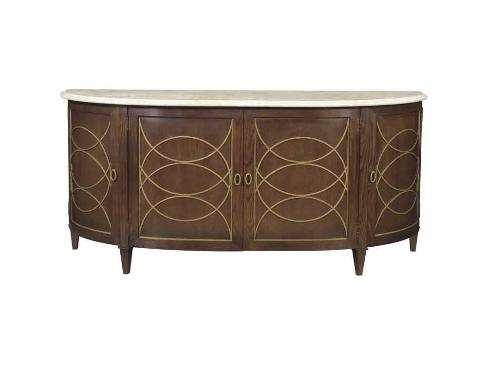 Hickory Chair - Duchamp Demi Lune Sideboard