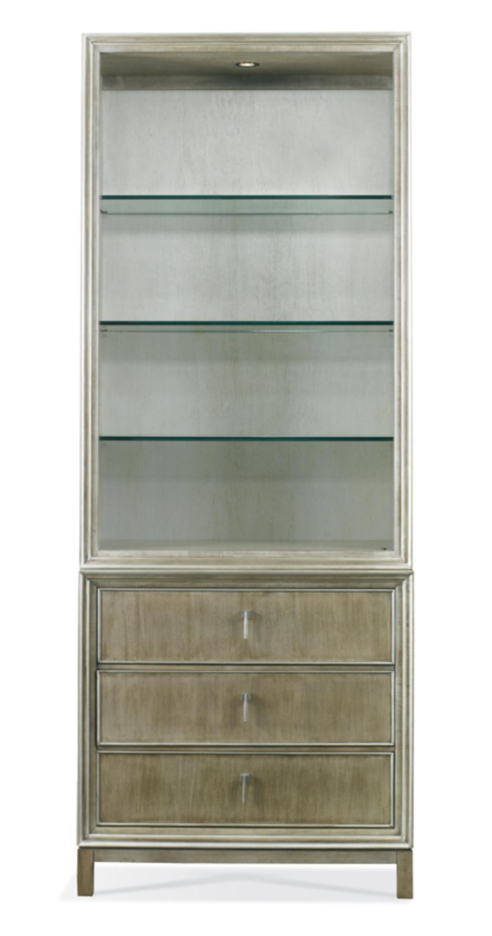 Hickory White - Carl Bookcase w/ Glass Shelves
