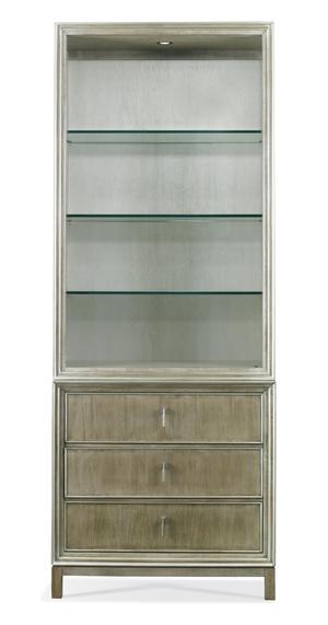 Thumbnail of Hickory White - Carl Bookcase w/ Glass Shelves
