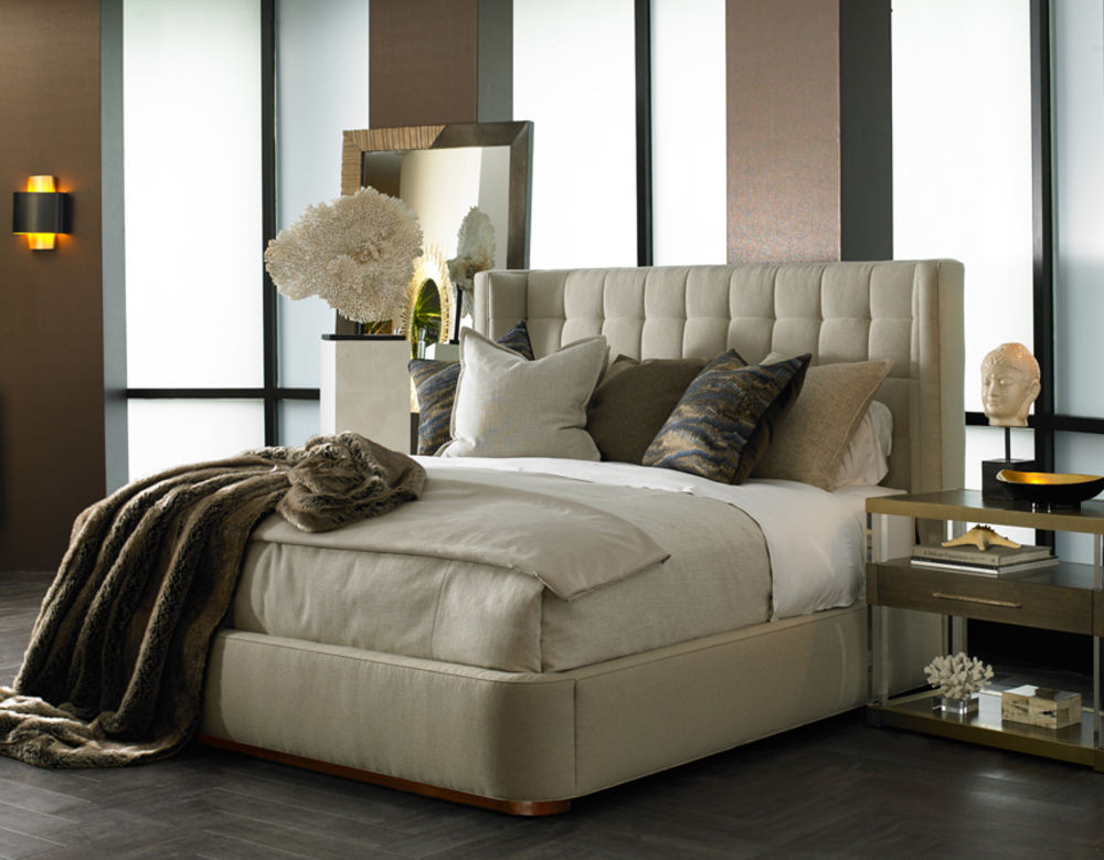 Hickory White - Dana King Upholstered Bed