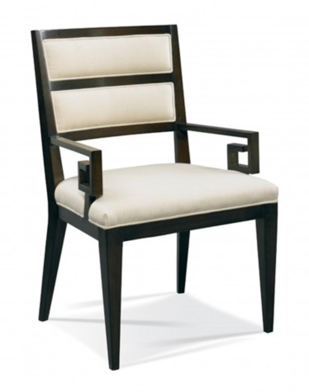 Hickory White - Greek Key Arm Chair