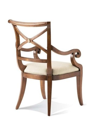 Thumbnail of Hickory White - X-Back Arm Chair