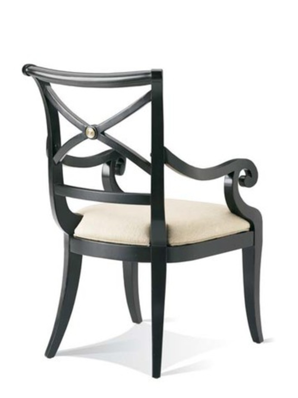 Hickory White - X-Back Arm Chair