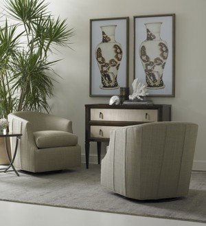 Thumbnail of Hickory White - Swivel Glider Chair