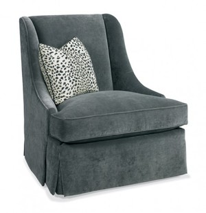 Thumbnail of Hickory White - Skirted Chair