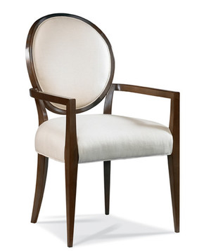 Thumbnail of Hickory White - Oval Back Arm Chair
