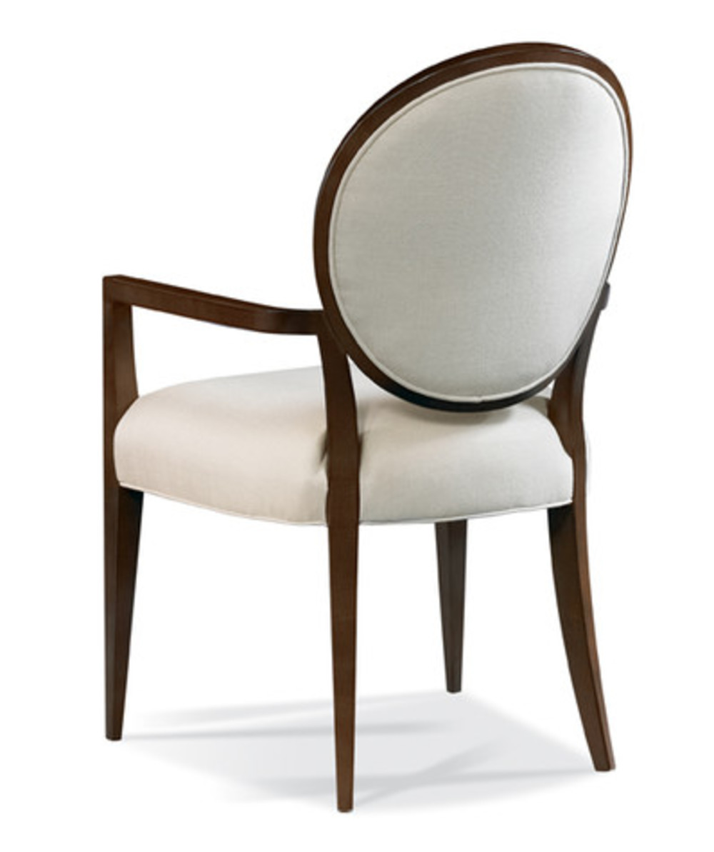Hickory White - Oval Back Arm Chair