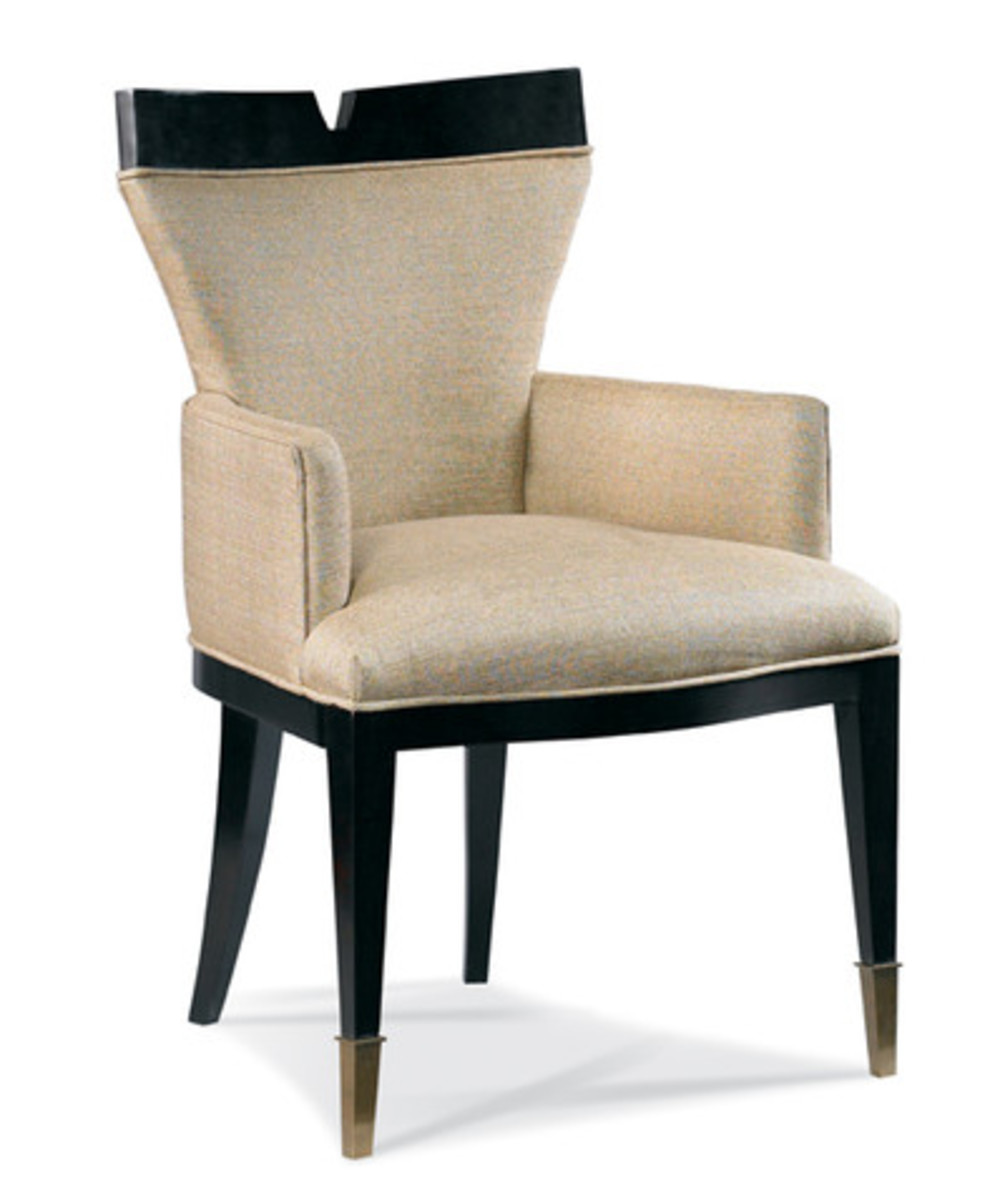 Hickory White - V-Back Arm Chair