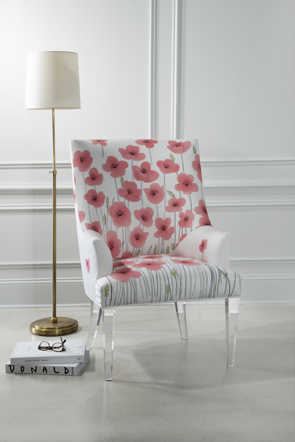 Highland House - Victoria Acrylic Legged Wing Chair