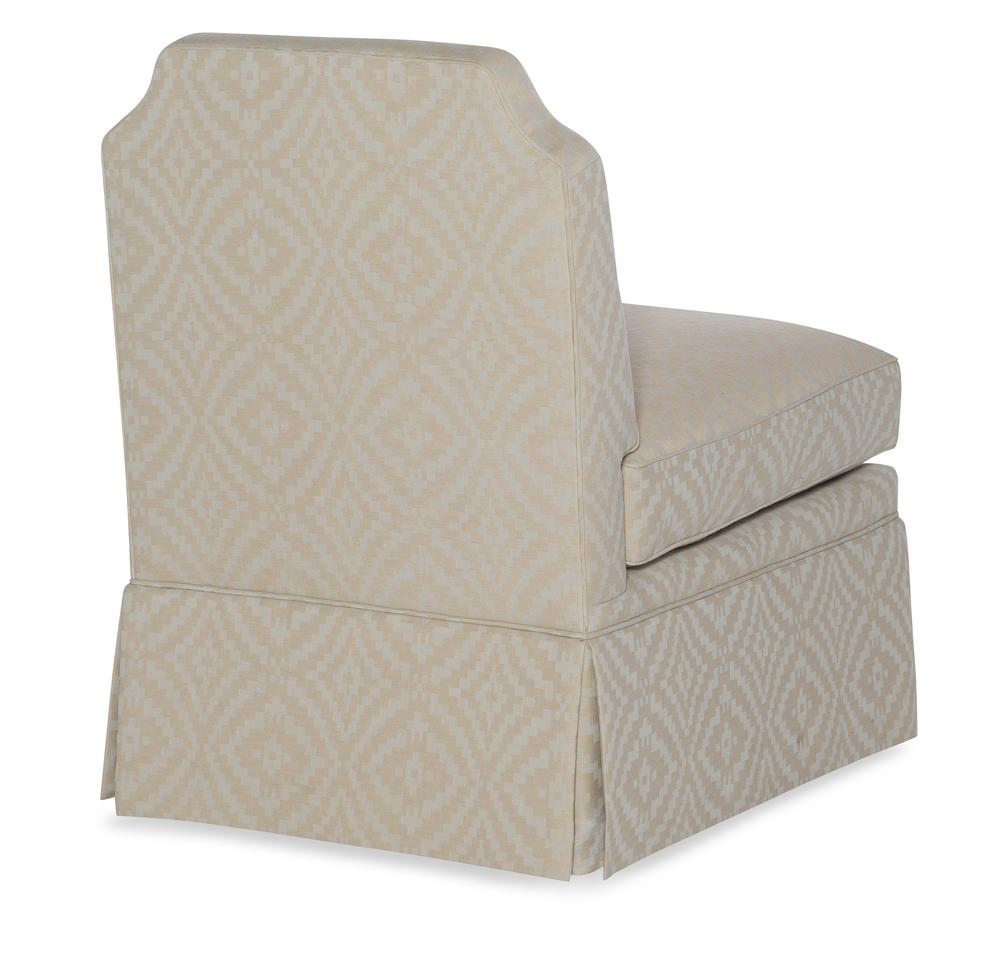Highland House - Luc Skirted Swivel Chair