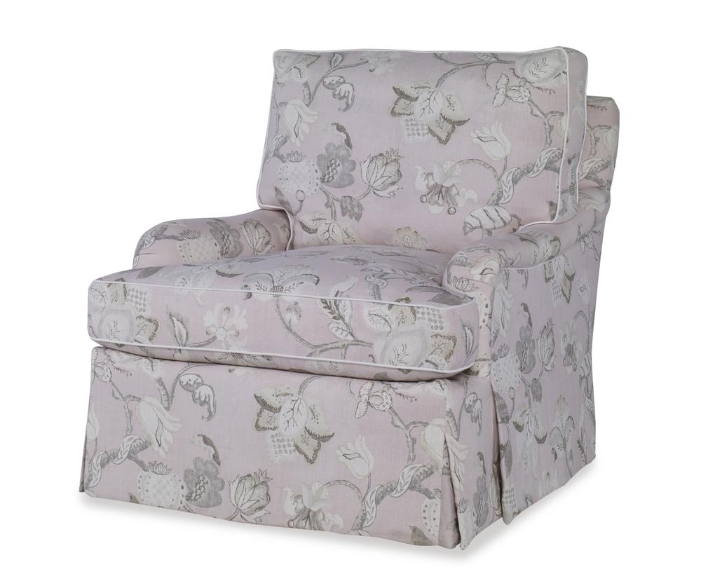 Highland House - Sills Skirted Swivel Chair