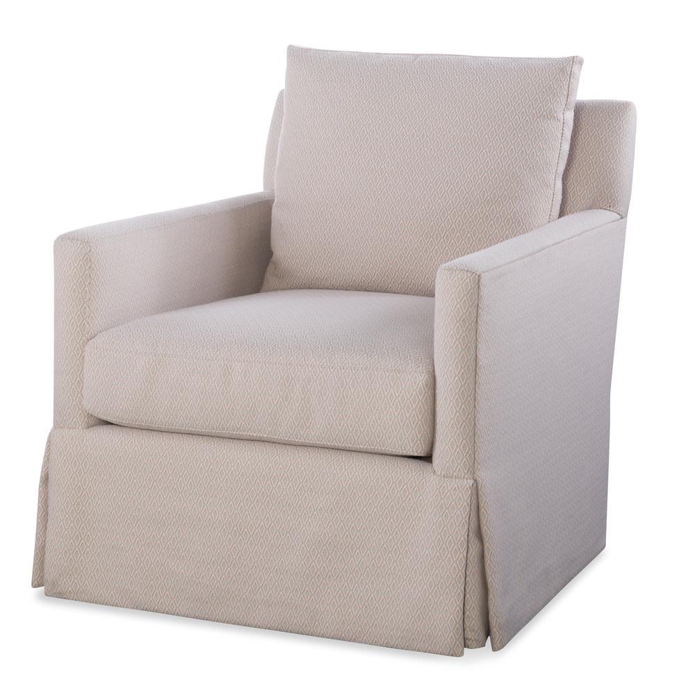 Highland House - Mason Skirted Swivel Chair