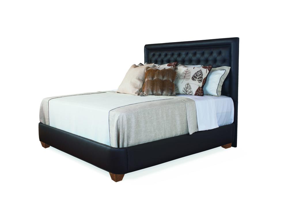 Highland House - Queen Upholstered Bed Base
