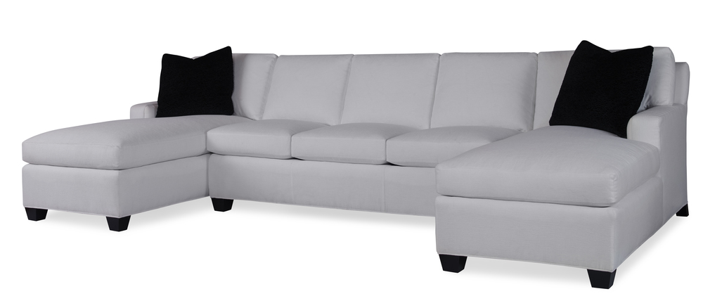 Highland House - Profiles Sectional with Two Chaises