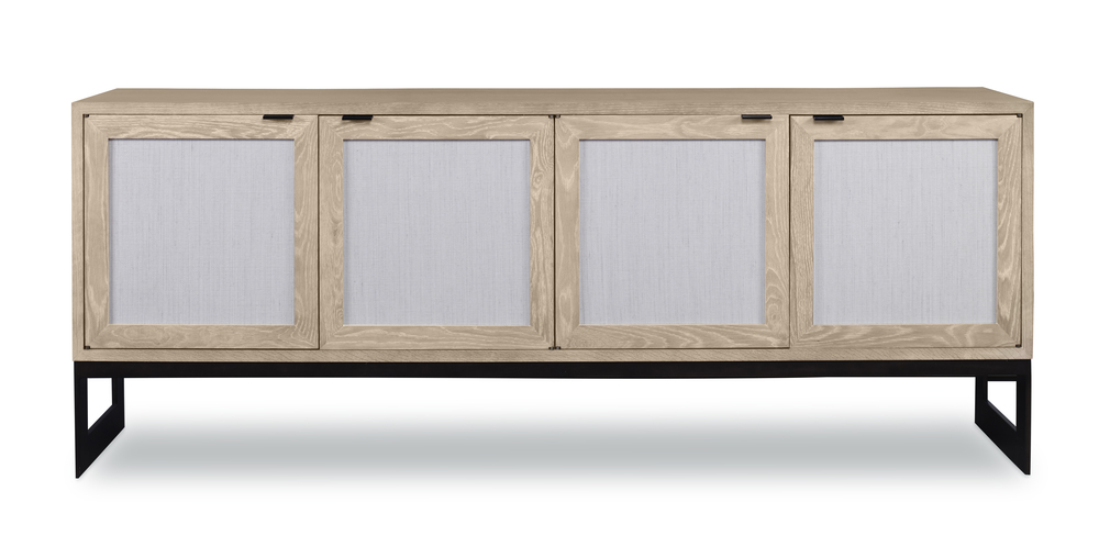 Highland House - Rafael Credenza with Grass Cloth Door Fronts