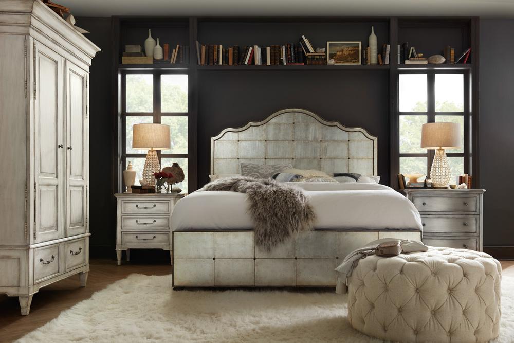 Hooker Furniture - Queen Mirrored Panel Bed